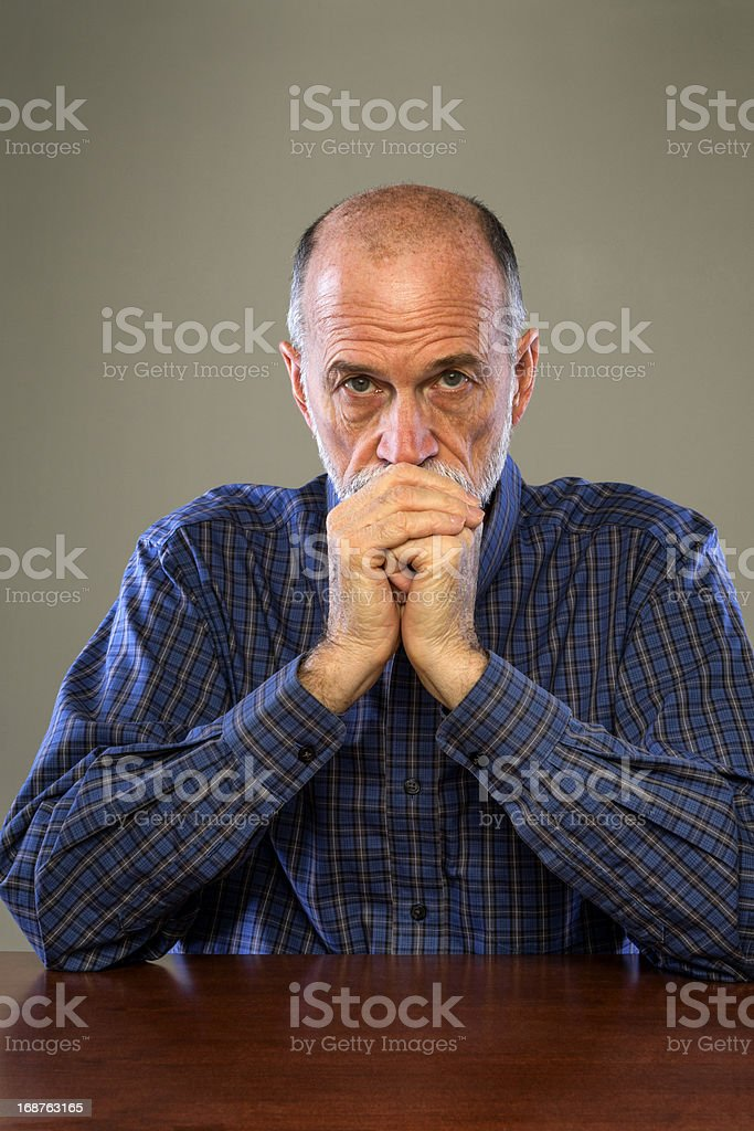 Senior Man With Serious Expression royalty-free stock photo