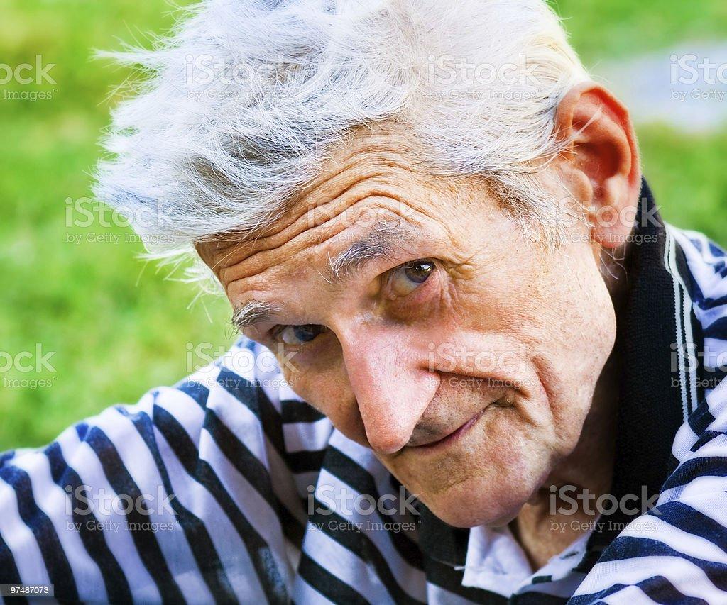 Senior man with wisdom smile royalty-free stock photo