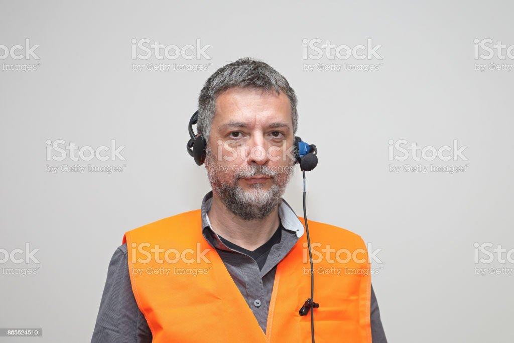 Senior Man Worker stock photo