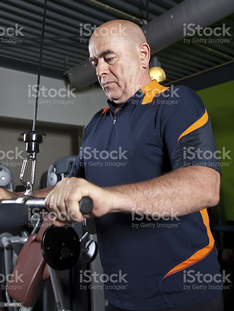 Senior man working out royalty-free stock photo