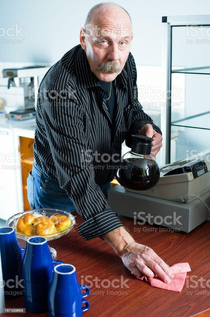 Senior man working royalty-free stock photo