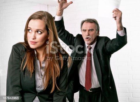 463813207 istock photo Senior manager angry at his secretary 157643963
