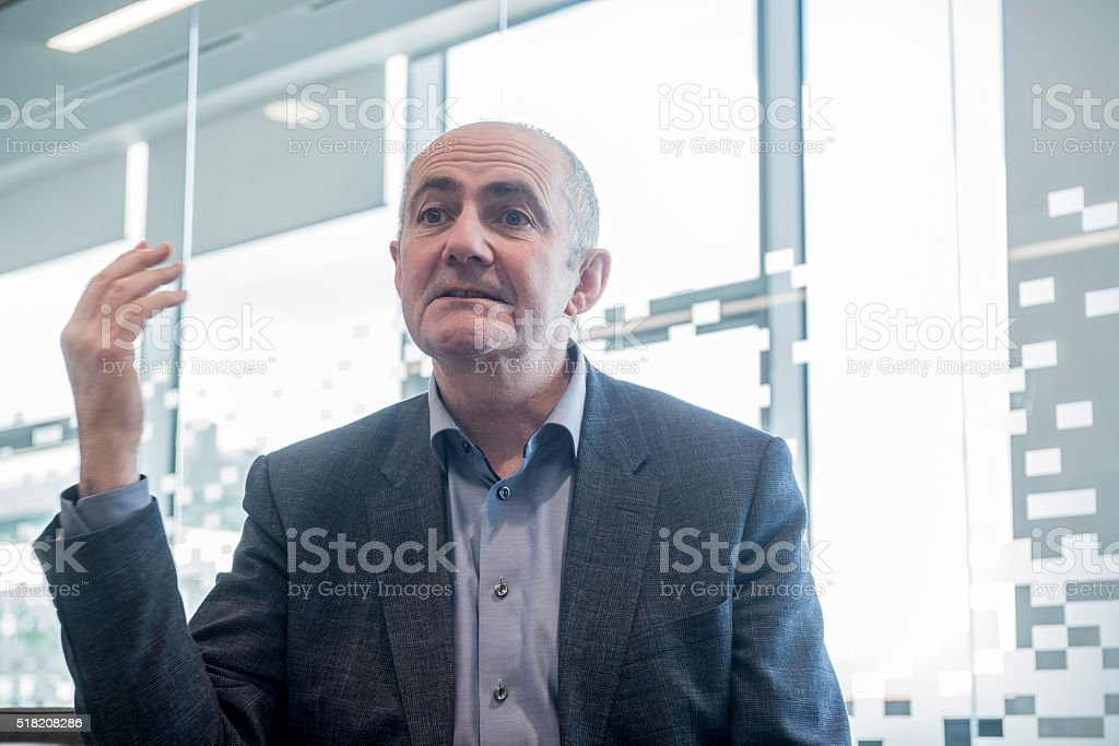 Senior manager in a meeting royalty-free stock photo