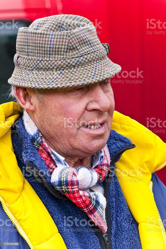Senior Market Vendor stock photo