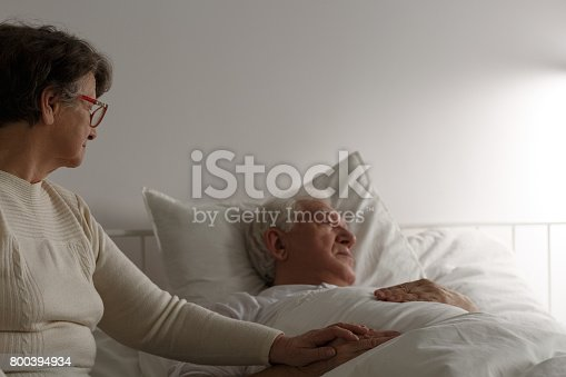 886711404 istock photo Senior marriage cherish last days 800394934