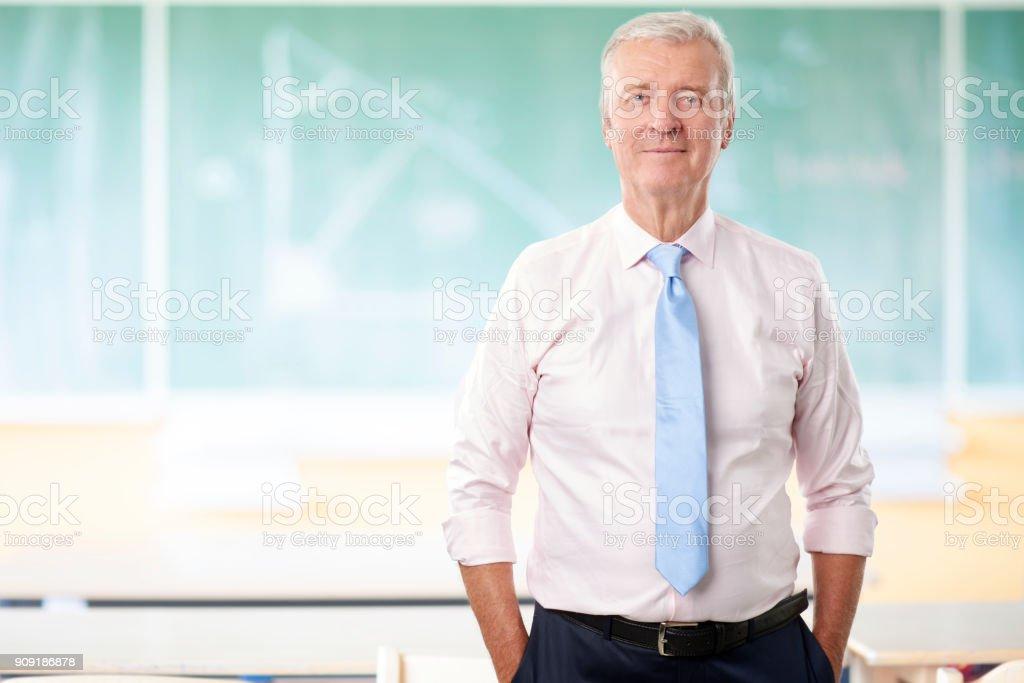 Senior math professor стоковое фото