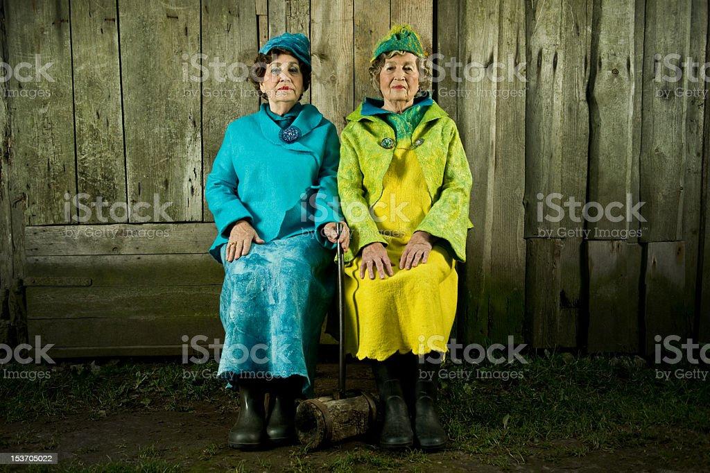 Senior Mature Women Portrait royalty-free stock photo