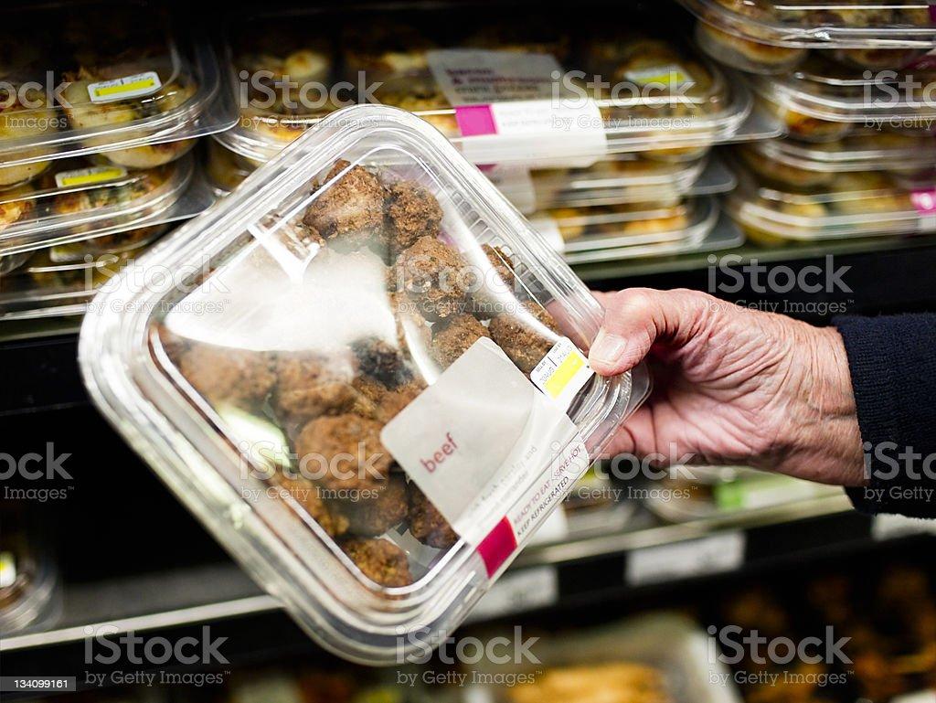Senior meatballs royalty-free stock photo