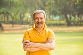 Senior Men, Indian, Outdoor, Park, Happiness,