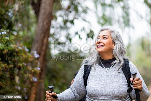 istock Senior Mexican Couple Hiking 1026851886