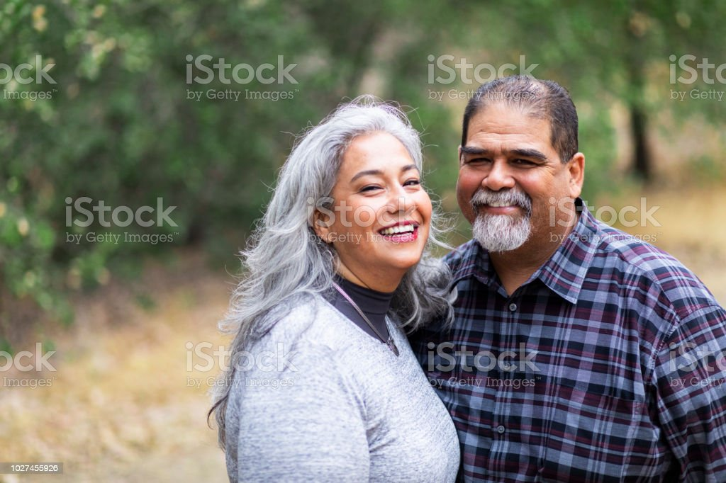 Senior Mexican Couple in Nature royalty-free stock photo