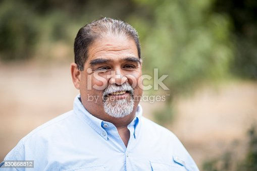 A senior mexican man portrait