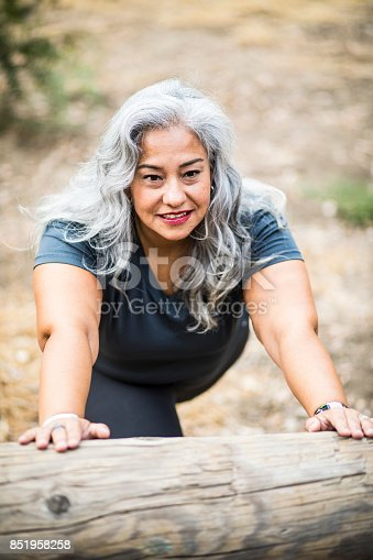 851958232 istock photo Senior Mexican Woman Working Out 851958258