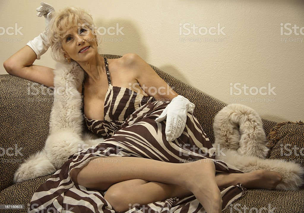Old woman saxy