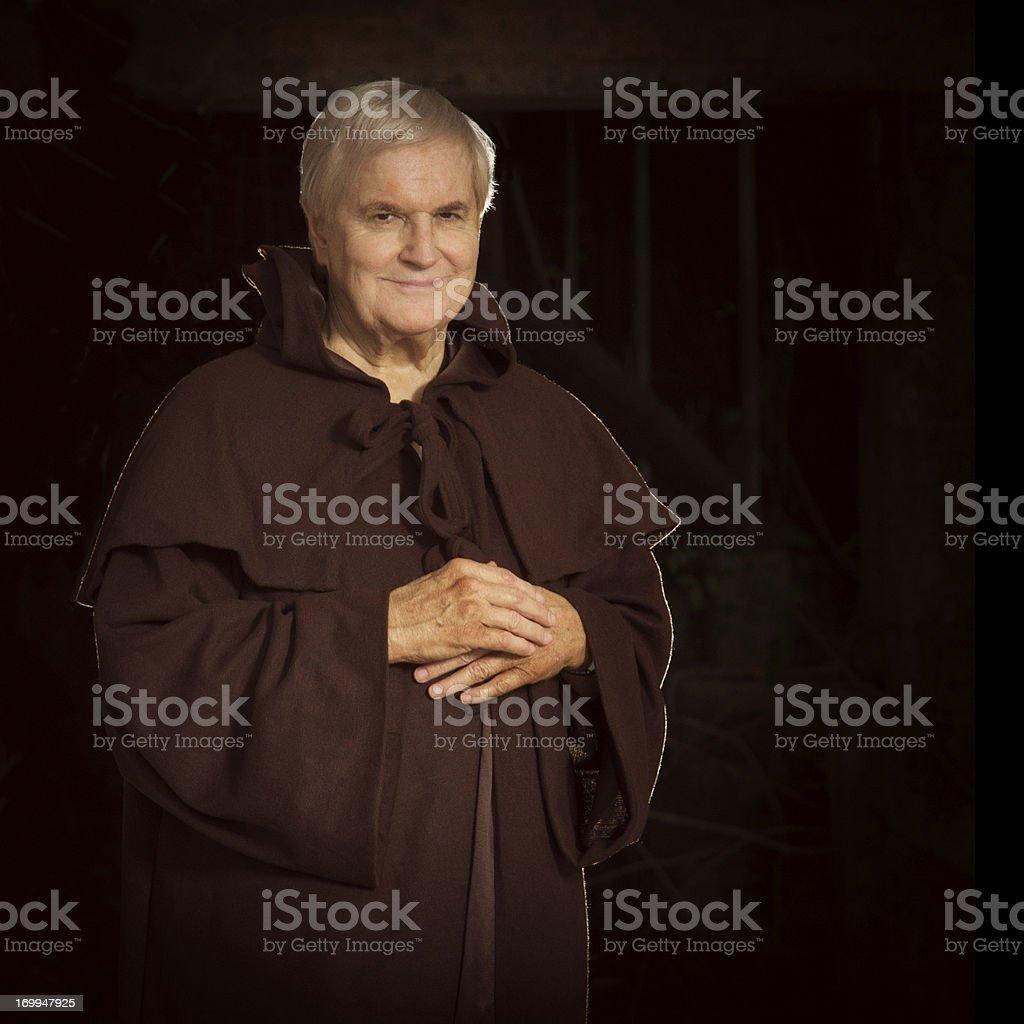 senior monk stock photo