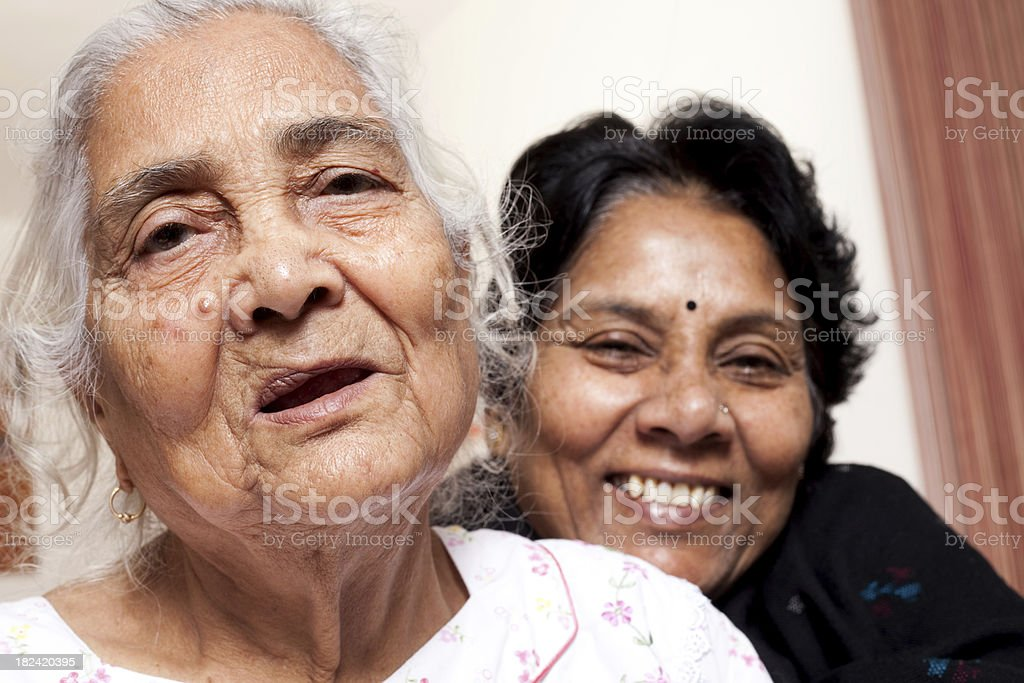 Senior Mother and Daughter royalty-free stock photo