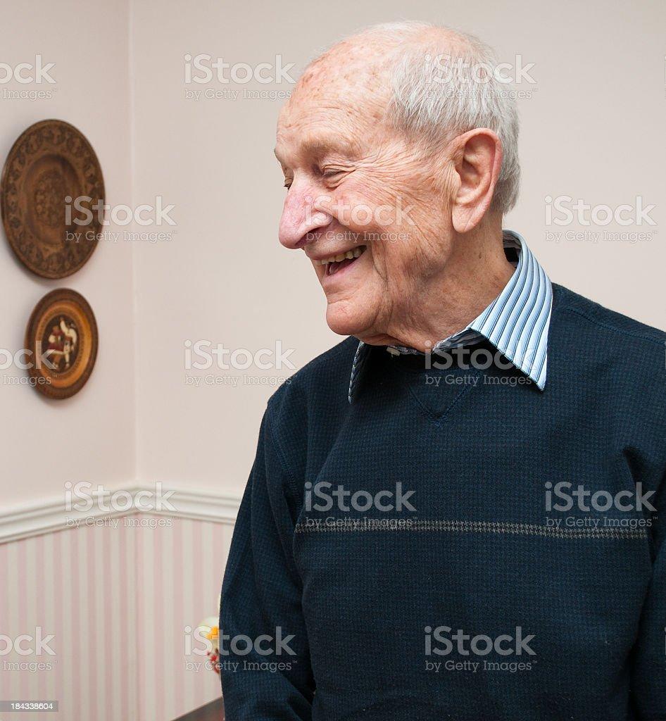 Senior octogenarian man royalty-free stock photo