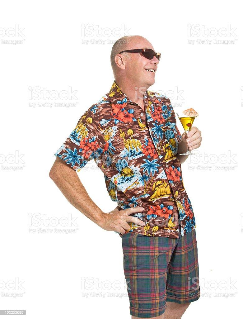 Senior on Holiday royalty-free stock photo