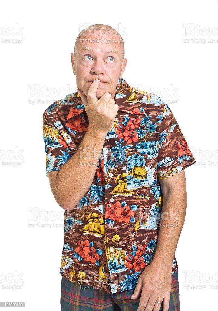 Senior on Holiday stock photo