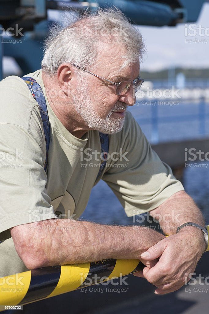 Senior outdoors royalty-free stock photo
