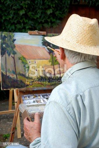 585509074 istock photo Senior painter 157278180