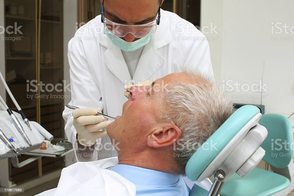 Senior patient at the dentist royalty-free stock photo
