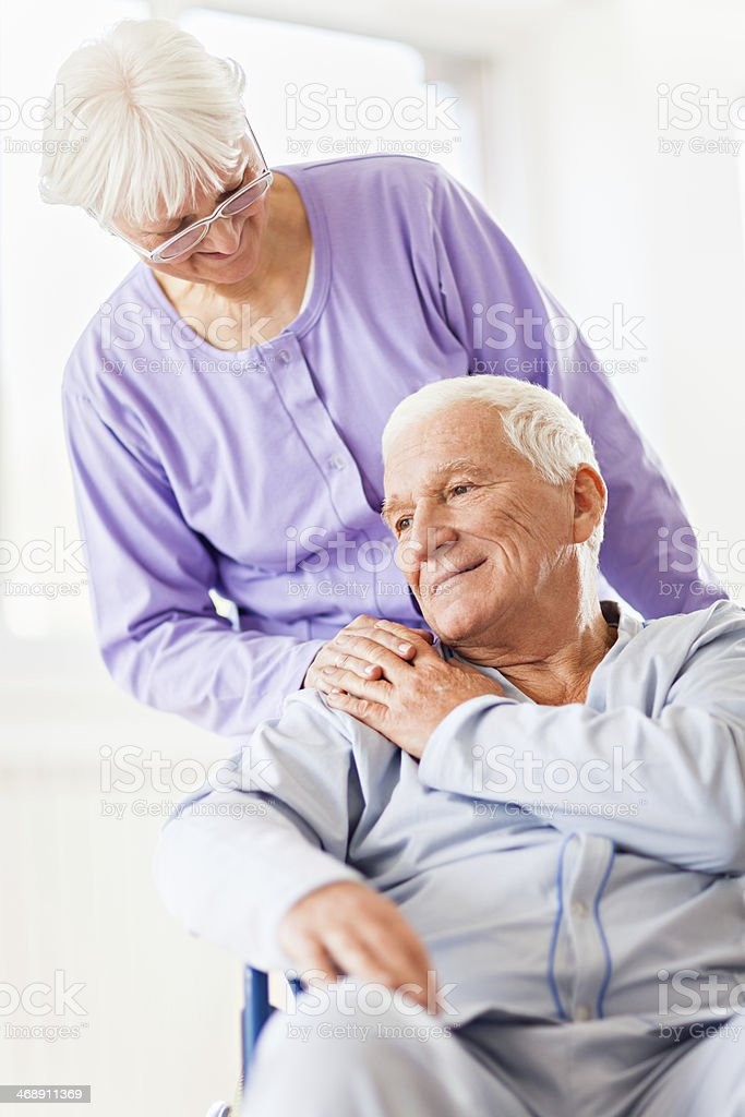 Senior patient in hospital royalty-free stock photo