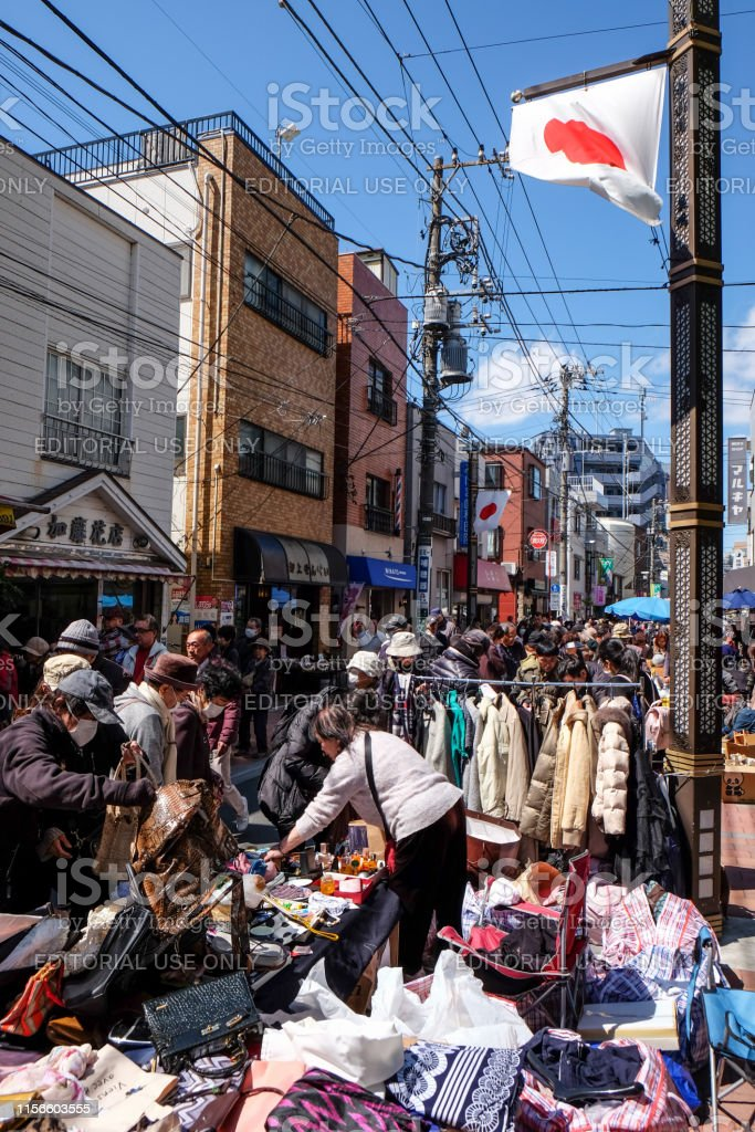 Senior people go shopping in the traditional local shopping street -...