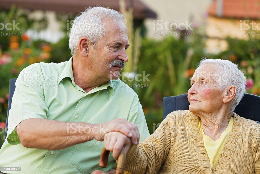 Senior People in Nursing Home stock photo