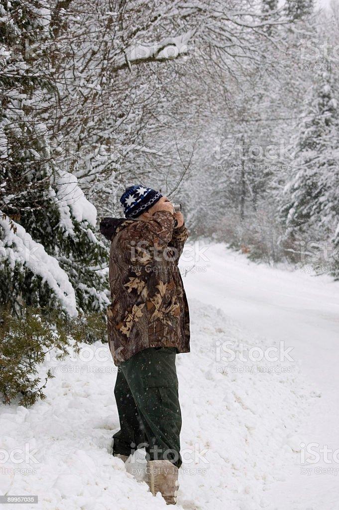 senior photographer at work royalty-free stock photo