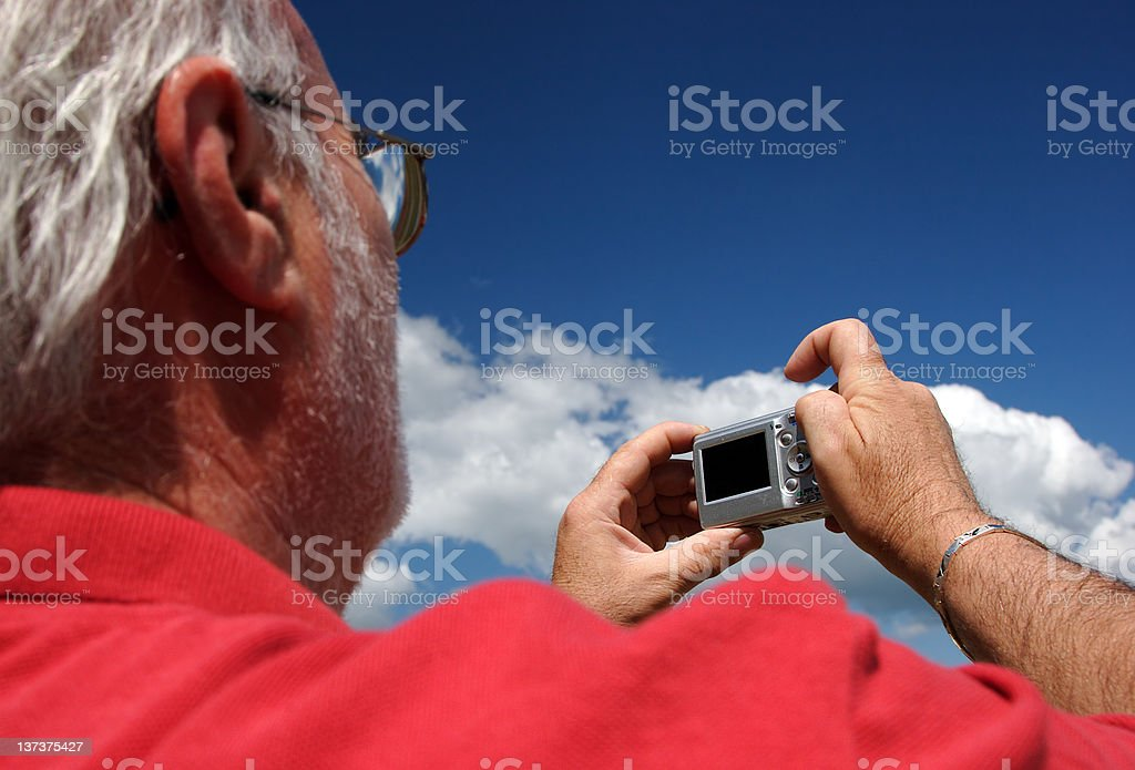 Senior photographer royalty-free stock photo