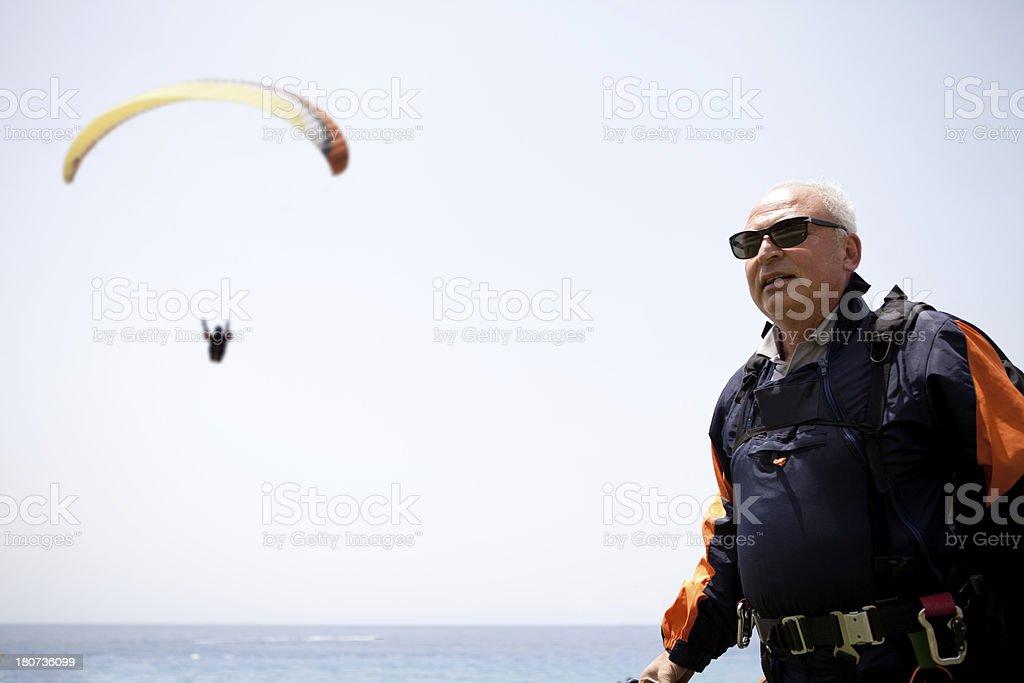 Senior Pilot royalty-free stock photo