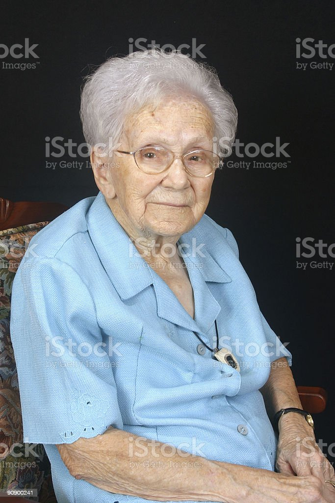 Senior Portrait royalty-free stock photo