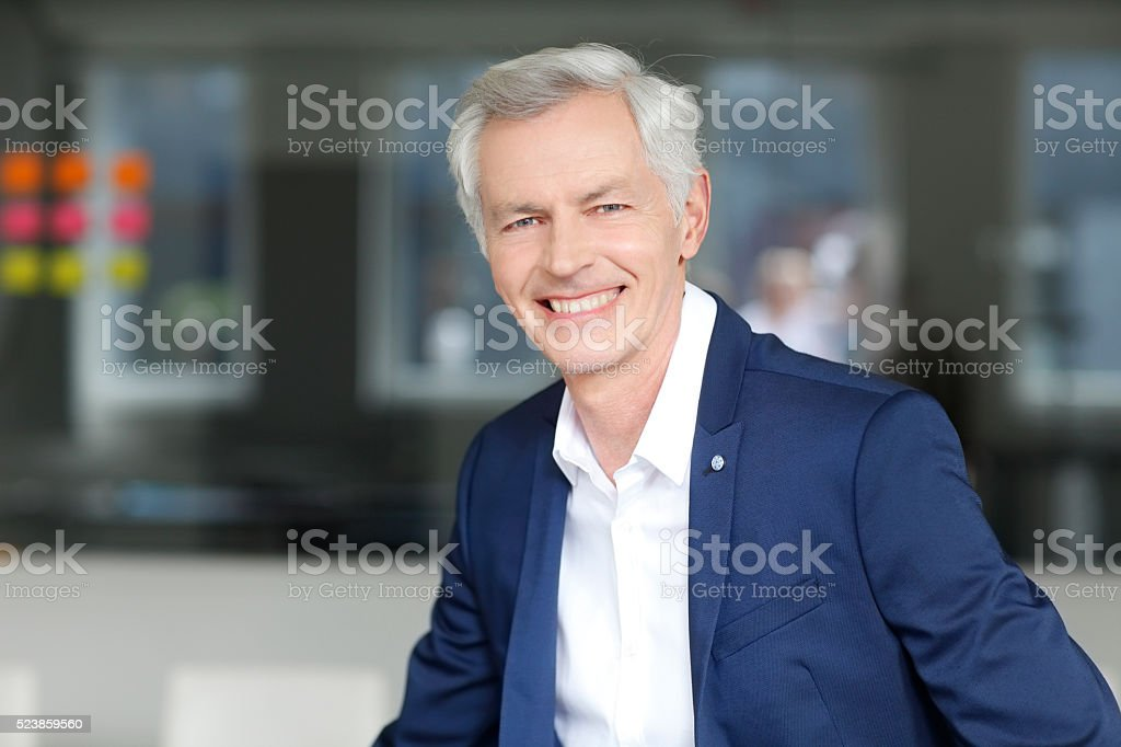 Senior professional man stock photo