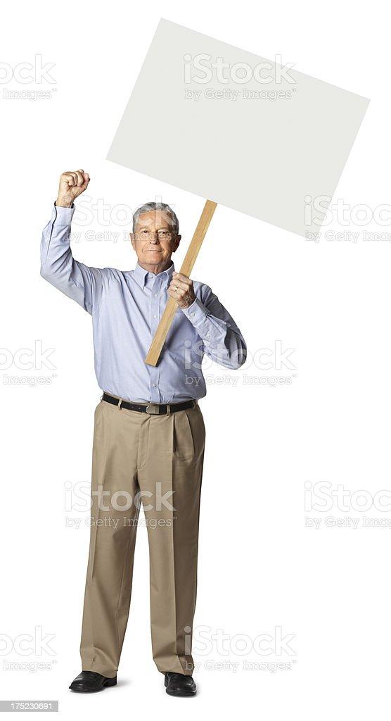 Senior Protestor stock photo
