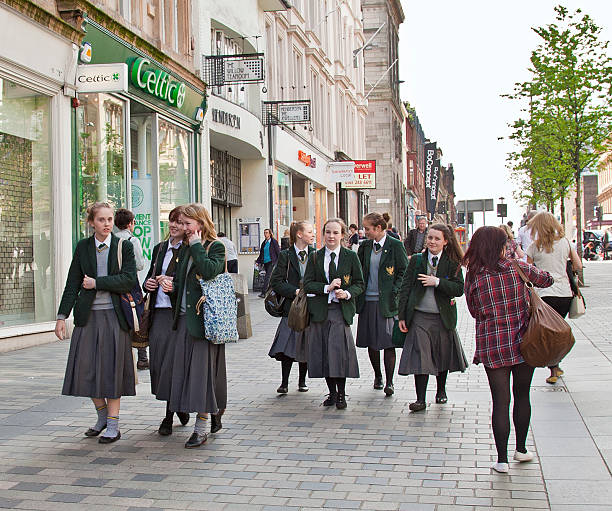 Senior pupils from St Aloyisius College, Glasgow