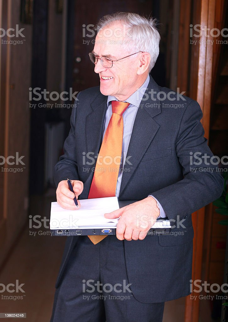 Senior real estate agent royalty-free stock photo