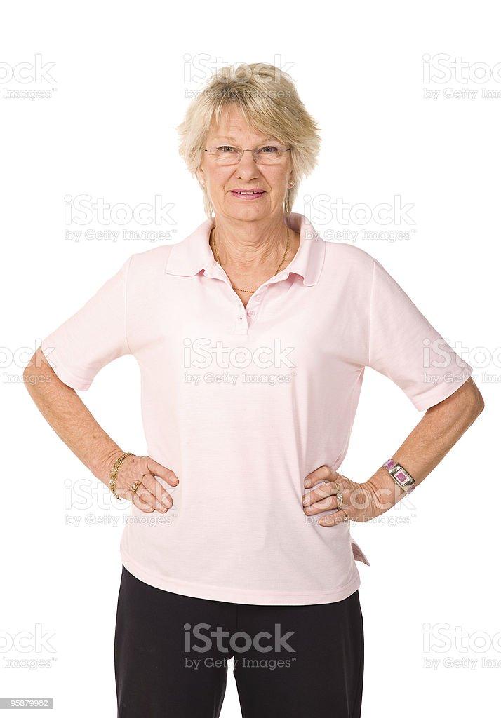 Senior retired lady royalty-free stock photo
