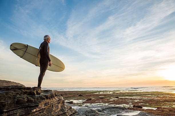 Senior Retired Surfer Man – Foto
