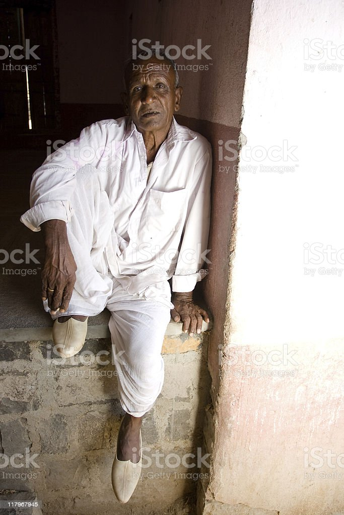 Senior Rural Indian royalty-free stock photo