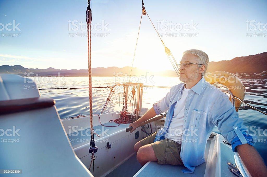senior sailing stock photo