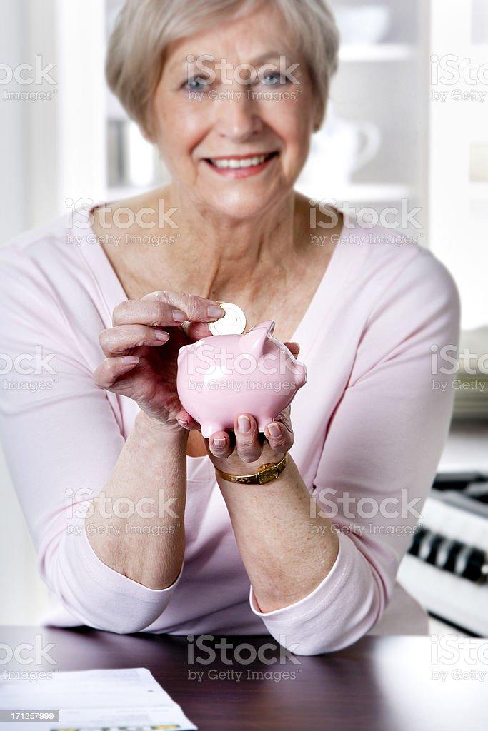 Senior Saver stock photo