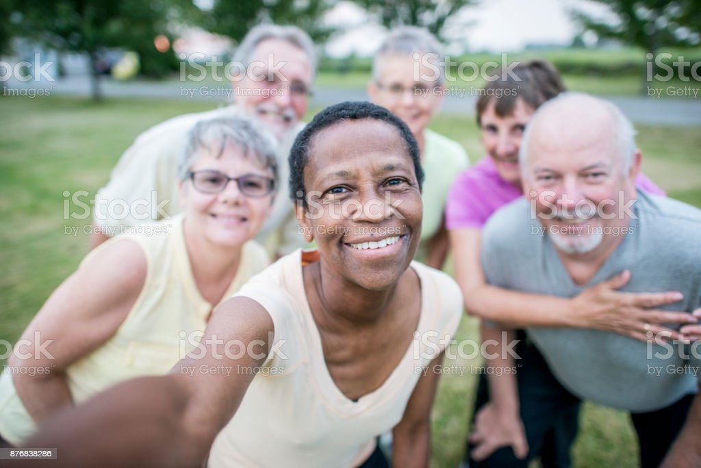 Senior Selfie stock photo