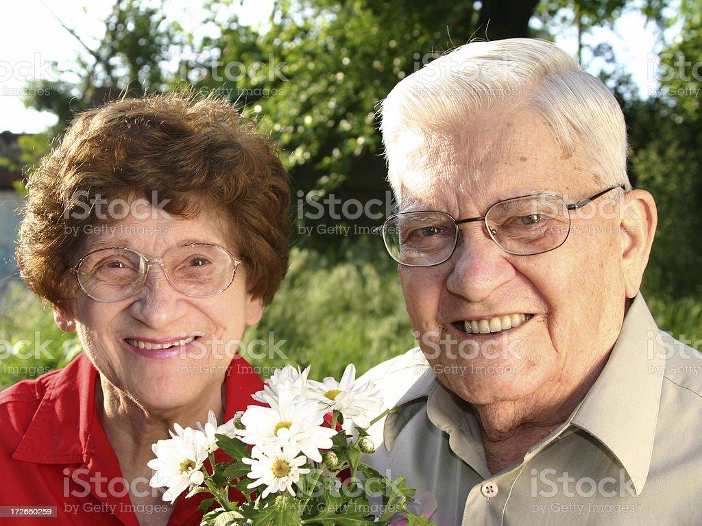 Senior Series: Beautiful Couple royalty-free stock photo