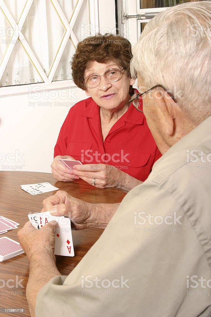 Senior Series: Playing Cards royalty-free stock photo