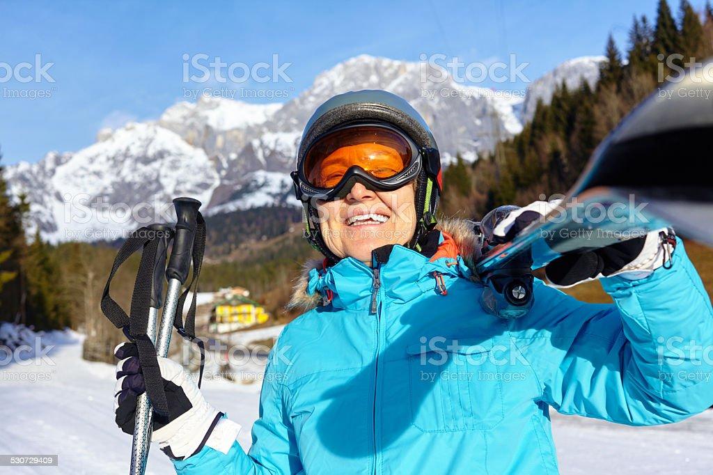 Senior Skifahrer Frau – Foto