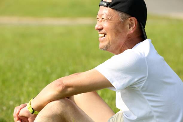 Senior smile stock photo