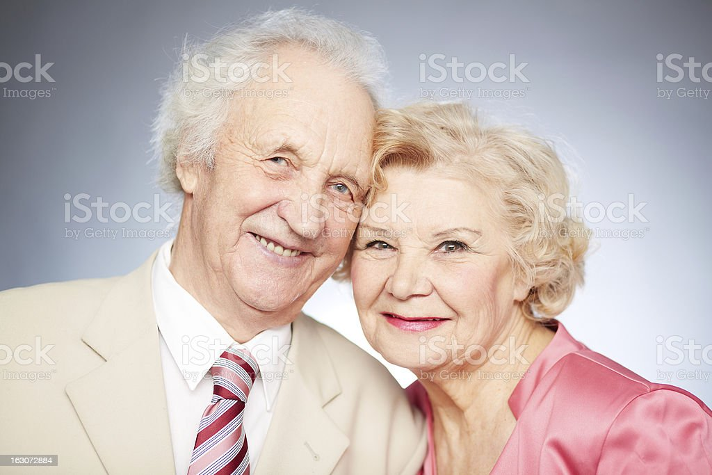 Senior smiles royalty-free stock photo