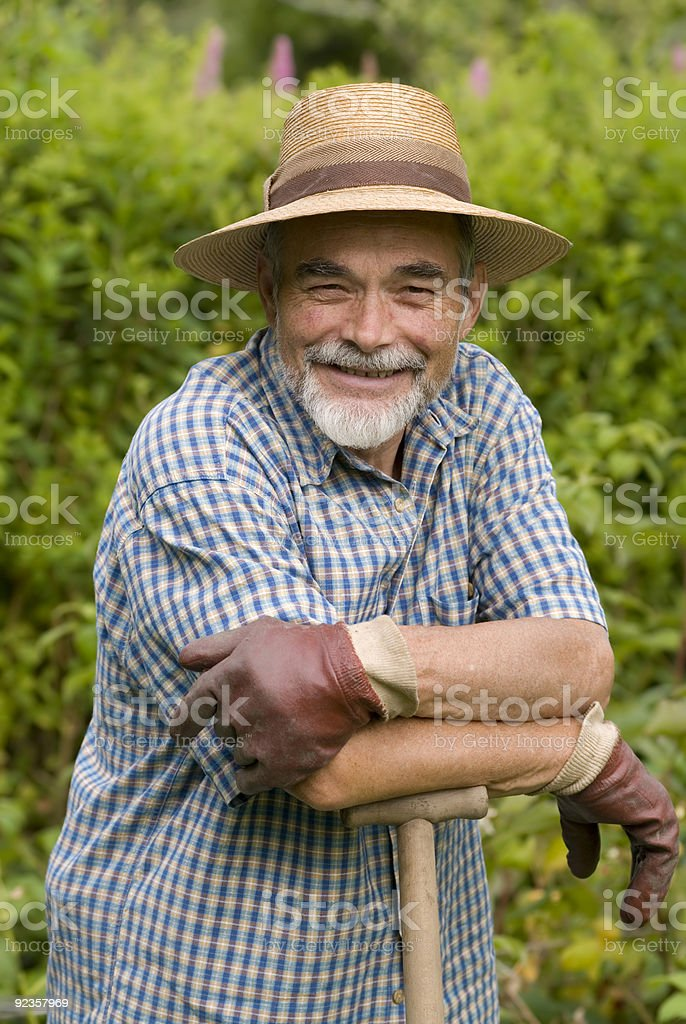 senior smiling stock photo