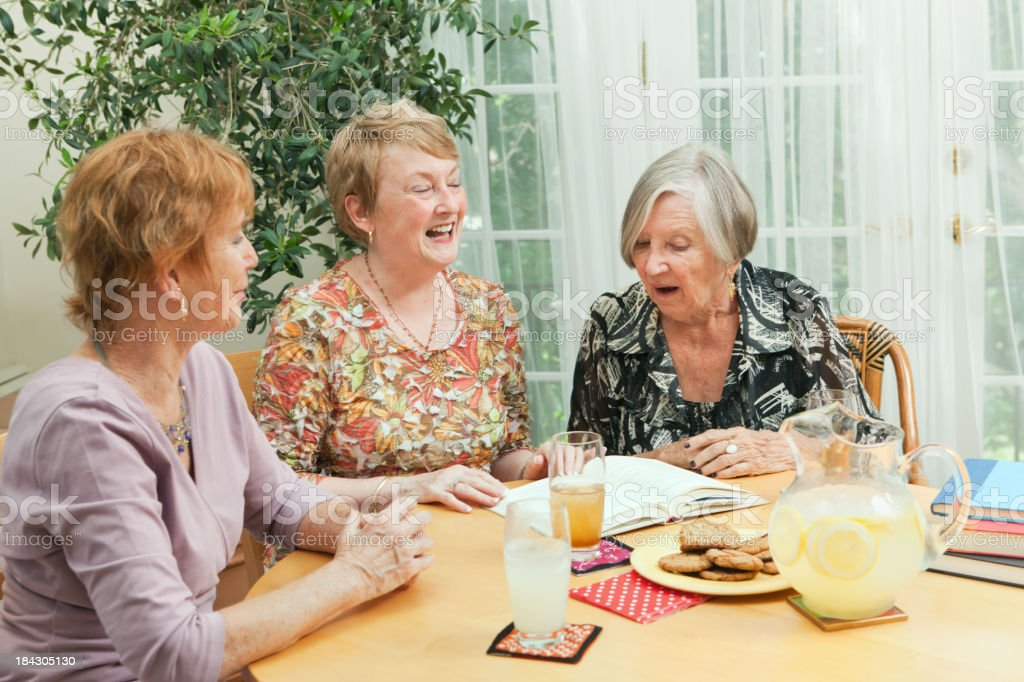 Senior Social Gathering Book Club and Reading Group stock photo